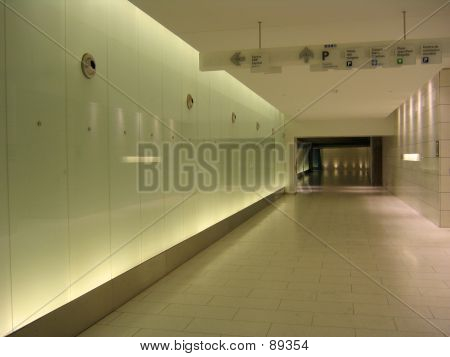 Corridor With Signs