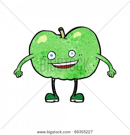 cartoon happy apple character