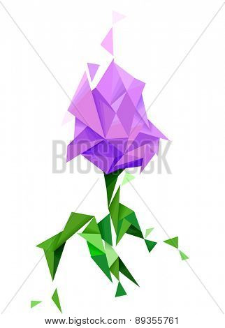 Illustration of an Abstract Tulip Geometric Design