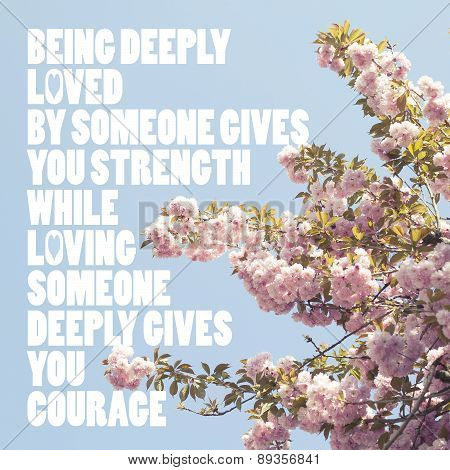 Inspirational Love Quote Background Poster Postcard Typographic Design