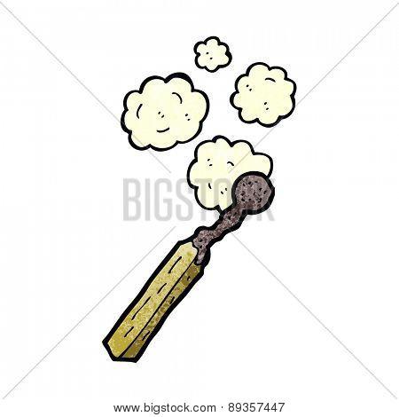 cartoon burnt match