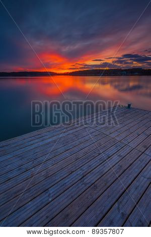 Colorful Sunset Over Lake