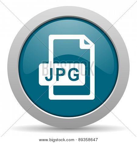jpg file blue glossy web icon