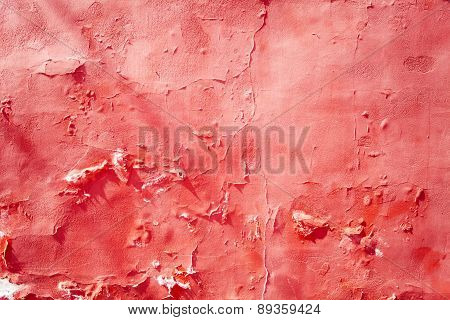 Cracked red wall