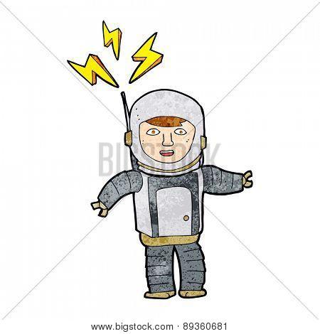 cartoon space man
