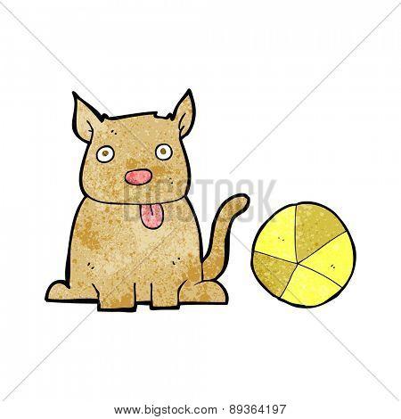 cartoon dog and ball