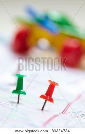toy plane near map