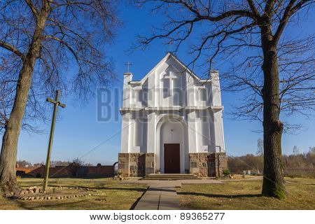 Catholic Church in Kroshyn (Kroszyn), Belarus.