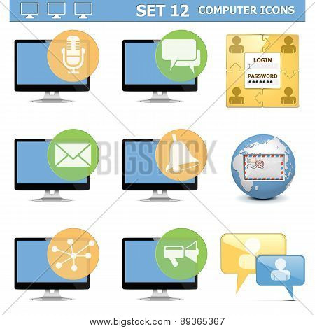 Vector Computer Icons Set 12