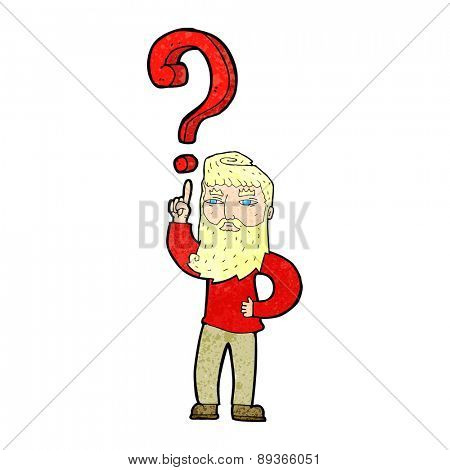 cartoon man with question