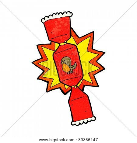 exploding christmas cracker cartoon