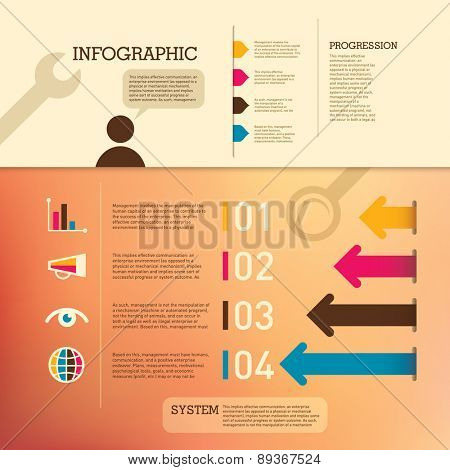 Business info graphic background. Vector illustration.