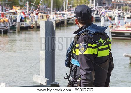 Police Officer Keeping Watch