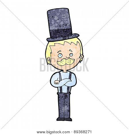 cartoon man in top hat