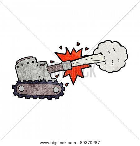 cartoon firing tank