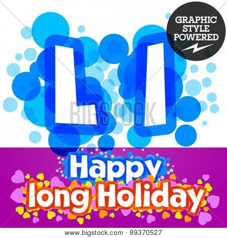 Vector set of happy festive motley alphabet. Letter L