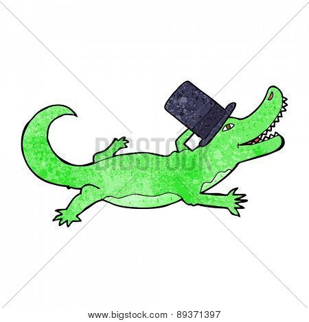 cartoon crocodile in top hat