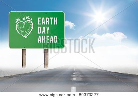 earth day ahead against open road