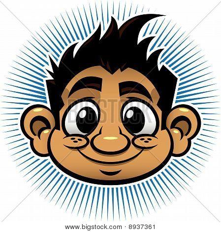 Smiling Boy Head