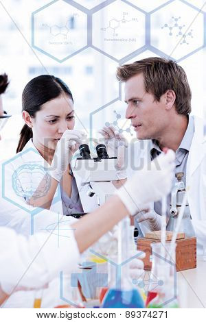 Medical interface against scientists working in a laboratory
