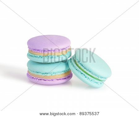 macarons isolated on white