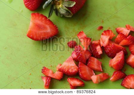 Chopped Strawberries