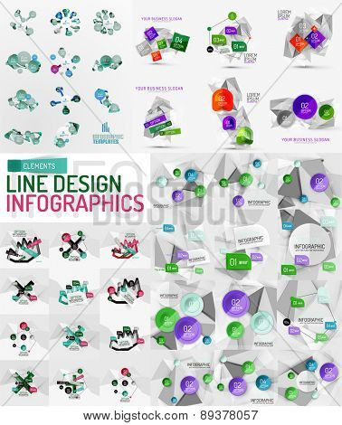 Set of infographic geometric layouts