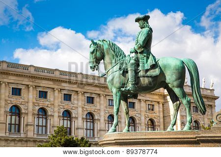Detail of Maria Theresa monument in Maria-Thesienplatz, Vienna, Austria