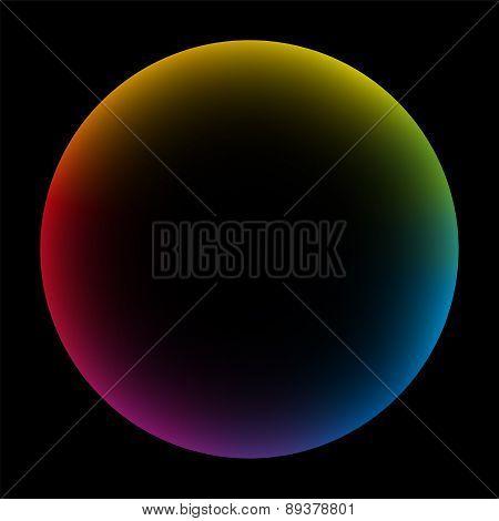 Rainbow Colored Bubble Black