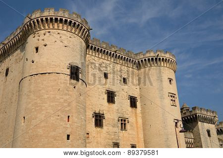 France, Medieval Castel Of Tarascon In Provence