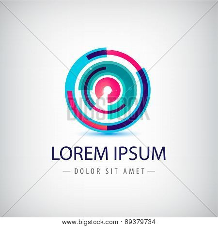 vector abstract colorful circle loop logo