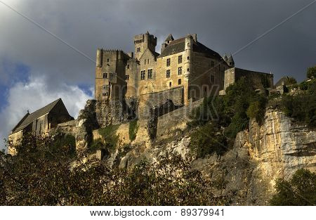 Middle Age Castle Of Beynac