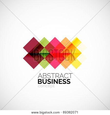 Square concept, company logo design element. Colorful modern symbol