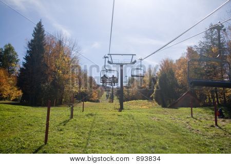 Chair-Lift Up Mountain