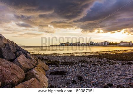 Galway Bay at sunset
