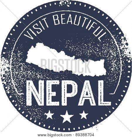 Visit Nepal Vintage Tourism Stamp