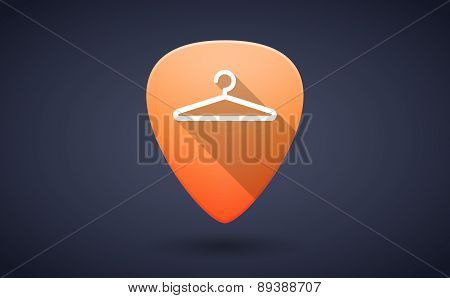 Orange Guitar Pick Icon With A Hanger