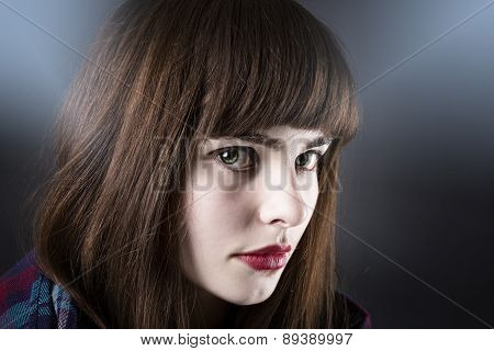 Portrait Of A Woman With White Makeup