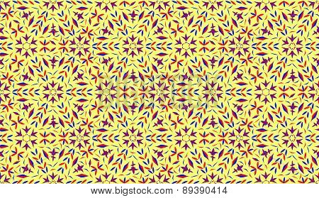 Decorative pattern with light yellow background