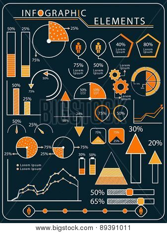 Creative infographic elements set for your business presentation and reports.