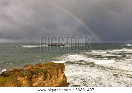 Rainbow Over The Pacific.