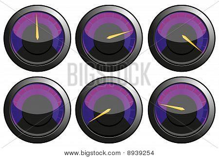 Purple speedometers