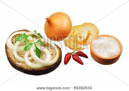Bread With Onion And Salt