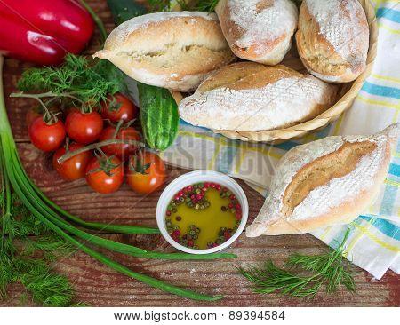 Traditional Italian bread Ciriola Romana