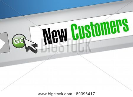 New Customer Browser Sign Concept