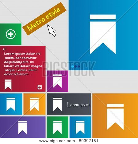 Web Stickers, Tags And Banners. Sale Icon Sign. Metro Style Buttons. Modern Interface Website Button