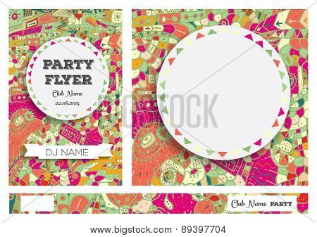 Club Flyers with copy space Vector illustration
