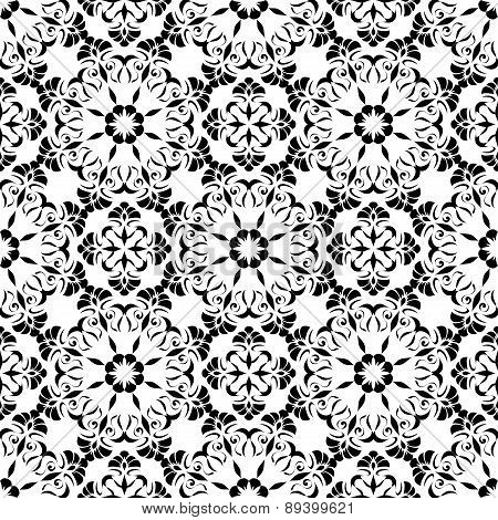Seamless Pattern Of The Elements Of Art Nouveau.