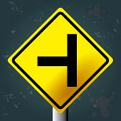 stock photo of traffic signal  - Textured background with an isolated traffic signal - JPG