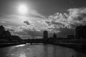 foto of neo-classic  - Dublin skyline taken from IFSC Dublin Ireland - JPG